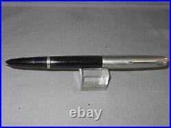 Parker 51 Black Chrome Cap Fountain Pen -working-fine point