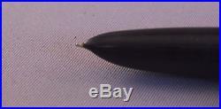 Parker 51 Black Chrome Cap Fountain Pen works-fine point
