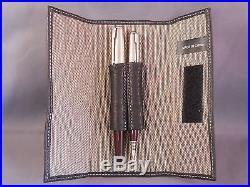 Parker 51 Brown Chrome Cap Fountain Pen and Pencil Set -working- fine point