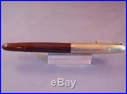 Parker 51 Brown Gold Cap Fountain Pen -working-fine point