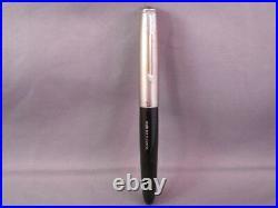 Parker 51 Demi Black Chrome Cap Fountain Pen works-fine point