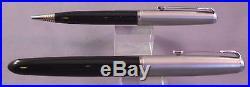 Parker 51 Demi Black Gold Cap Fountain Pen Set works-fine point