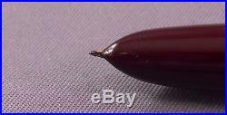 Parker 51 Demi Brown Chrome Cap Fountain Pen works-fine point