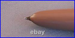 Parker 51 Demi Cocoa Chrome Cap Fountain Pen works-fine point