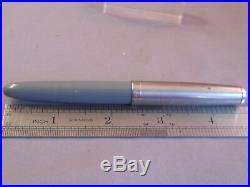 Parker 51 Demi Gray Chrome Cap Fountain Pen works-fine point