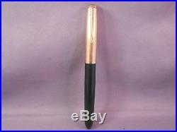 Parker 51 Demi Green Gold Cap Fountain Pen works-fine point