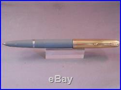 Parker 51 Gray Gold Cap Fountain Pen works-fine point-1945