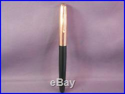 Parker 51 Green Gold Cap Fountain Pen works-fine point