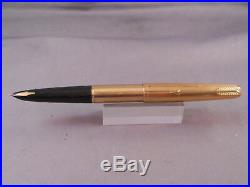 Parker 61 Gold Fountain Pen-Black Shell-fine point