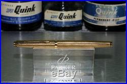 Parker 75 Gold Grain d'Orge 20u Fine Point 14k Gold Nib