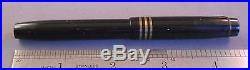 Parker Black Duofold 3-banded cap Fountain Pen-fine point