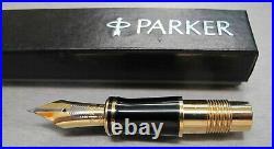Parker Duofold Centennial Fountain Pen 18 KT Gold Extra Fine Point Nib New