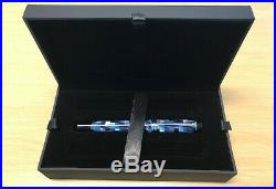 Parker Duofold Checks Marine Blue Fine Point Fountain Pen Limited Edition