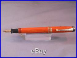 Parker Duofold Fountain Pen-Orange -fine point