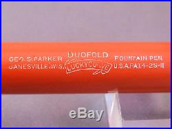 Parker Senior Duofold Pen Red Hard Rubber working-fine point