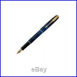 Parker Sonnet Deep Blue & Gold Fountain Pen Fine Point New In Box France