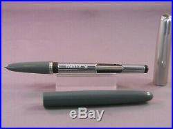Parker Vintage 51 Gray Fountain Pen works-fine point