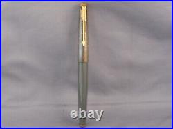 Parker Vintage 61 Gold Rainbow Cap Gray Fountain Pen-fine point-new old stock