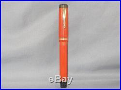 Parker Vintage Big Red Senior Duofold Fountan Pen-fine point