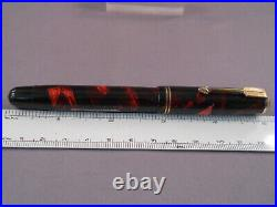 Parker Vintage Deluxe Challenger Red Marble Fountain Pen-new sac-l4k fine point