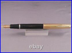 Parker Vintage VS Gold Cap Button Fill Fountain Pen Black- fine point