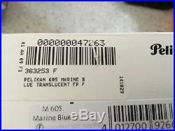 Pelikan 605 Marine Blue Translucent 14k Fine Point FP-Special Edition