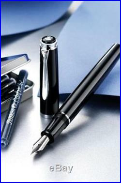 Pelikan Classic P205 Fountain Pen Black and Silver Extra Fine Point 930651