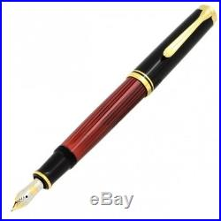 Pelikan Souveran 600 Black/Red GT Fine Point Fountain Pen 928655