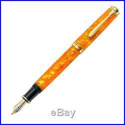 Pelikan Souveran 600 Fountain Pen Vibrant Orange Extra Fine Point 809528