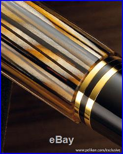 Pelikan Souverän M400 Fountain Pen Tortoiseshell Brown Fine Point Special E