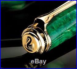 Pelikan Souveran M600 Fountain Pen Vibrant Green -Fine Point (Special Edition)
