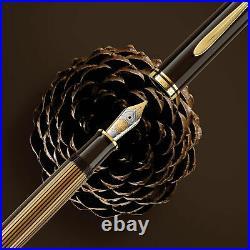 Pelikan Souveran M800 Fountain Pen in Brown Black 18Kt Gold Extra Fine Point