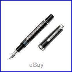 Pelikan Souveran M815 Fountain Pen Metal Striped Extra Fine Point (809245)