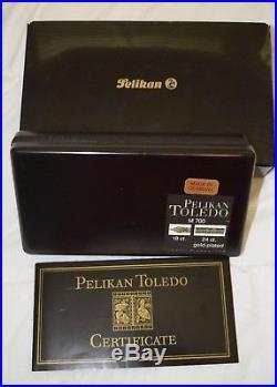 Pelikan Toledo M700 Fountain Pen Black & Gold Fine Point