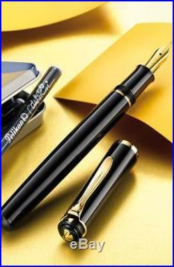Pelikan Tradition 150 Series M150 Fountain Pen Black GT Fine Point 993535 New