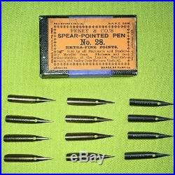 Perry & Co. No. 28 Spear-Pointed Pen Extra Fine, vintage nibs. The Best Quality