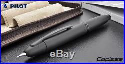 Pilot Capless Retractable Fountain Pen Matte Black 18K Vanishing Point EF F M B