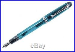 Pilot Custom 74 Fountain Pen Teal Silver Trim Fine Point NEW US SELLER