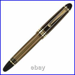 Pilot Custom 823 Fountain Pen in Amber with Gold Trim 14K Gold Fine Point NEW