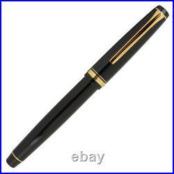 Pilot Falcon Fountain Pen in Black & Gold Soft Flexible Extra Fine Point NEW