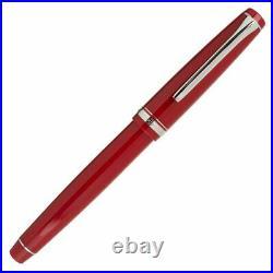 Pilot Falcon Fountain Pen in Red & Rhodium Soft Flexible Fine Point NEW