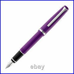Pilot Falcon Fountain Pen in Resin Purple Soft Flexible Fine Point -NEW in Box