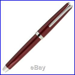 Pilot Metal Falcon Fountain Pen Soft Flexible Nib Burgundy Fine Point NEW