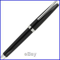 Pilot Metal Falcon Fountain Pen in Black Soft Flexible Fine Point NEW in box
