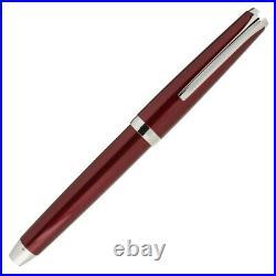 Pilot Metal Falcon Fountain Pen in Burgundy Soft Flex Fine Point NEW in Box