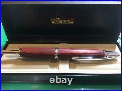 Pilot Namiki Fountain Pen Vanishing Point Wood Birch Nib Gold 18K Extra-Fine