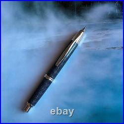 Pilot Namiki Vanishing Point Blue Carbonesque Carbon Fiber Fountain Pen Gold Nib