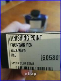 Pilot Vanishing Point Capless Fountain Pen Black, 18K Fine Nib