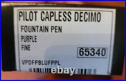 Pilot Vanishing Point Decimo Collection Fountain Pen Purple, Fine Point, Case