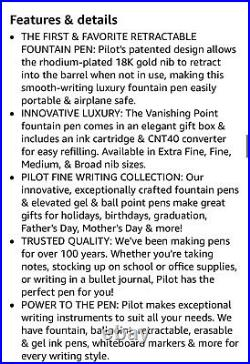 Pilot Vanishing Point Decimo Fountain Pen 18k Purple Extra Fine Point Nib 65336